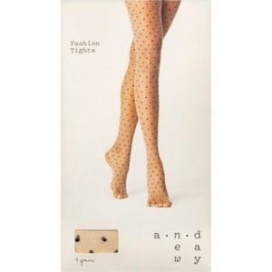 a new day Accessories - A New Day Polka Dot Sheer Tights Nude Hosiery